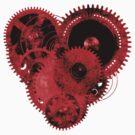 Steampunk Red Heart by Steve Crompton