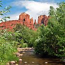 Sedona River and Cathedral Point by Gregory Ballos | gregoryballosphoto.com