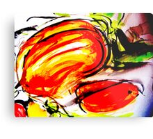 dried stuff.... splashed with vibrant color Metal Print