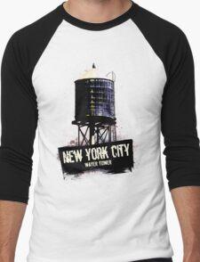 New York City Water Tower Men's Baseball ¾ T-Shirt