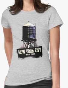 New York City Water Tower Womens Fitted T-Shirt