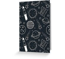 Space Doodles Greeting Card