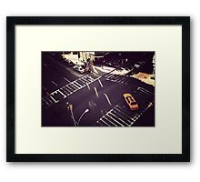 Everyday life scene in Manhattan  Framed Print