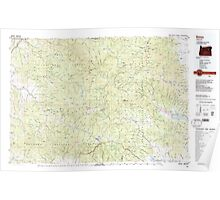 USGS Topo Map Oregon Bates 283051 1987 100000 Poster
