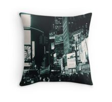 Time Square by Night Throw Pillow