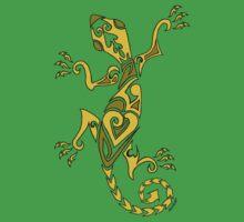 Lizard Tattoo Yellow One Piece - Short Sleeve