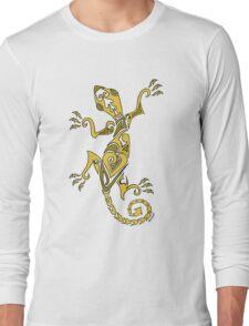 Lizard Tattoo Yellow Long Sleeve T-Shirt