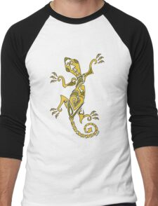 Lizard Tattoo Yellow Men's Baseball ¾ T-Shirt