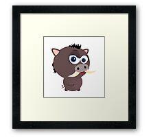 Cartoon Boar Framed Print