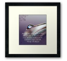 """""""It's what you see"""" Framed Print"""