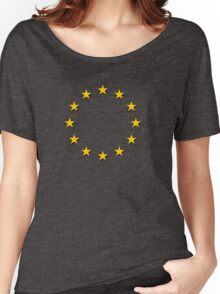 Europe - I Love The European Union ~ EU Flag T-Shirt Drapeau Design Women's Relaxed Fit T-Shirt