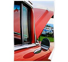 Old car side view mirror Poster