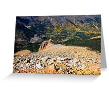 From the top of Red Mountain Greeting Card
