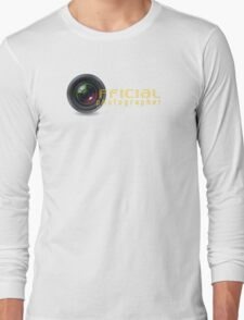 Official photographer Long Sleeve T-Shirt