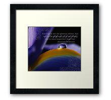 Purple~ Macro Waterdrop Wall Art Framed Print