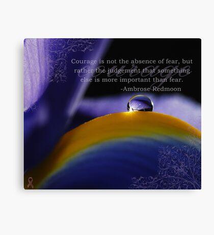 Purple~ Macro Waterdrop Wall Art Canvas Print