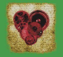 Vintage Steampunk Heart Kids Tee