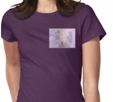 Serenity Prayer Lilacs Womens Fitted T-Shirt