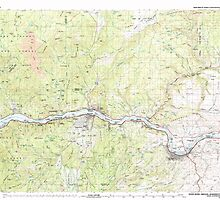 USGS Topo Map Oregon Hood River 283083 1982 100000 by wetdryvac