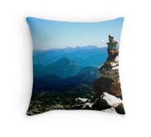 Rock Formations in Austria Throw Pillow
