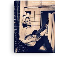 Moon River - Breakfast at Tiffany's Canvas Print