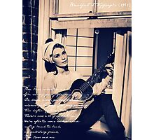 Moon River - Breakfast at Tiffany's Photographic Print