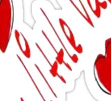 Daddy's little Valentine Sticker