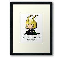 I am Loki of Asgard Framed Print