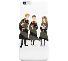 ron, harry, and hermione iPhone Case/Skin