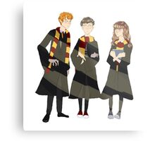 ron, harry, and hermione Metal Print