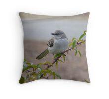 Mockingbird Reed Bingham State Park Throw Pillow