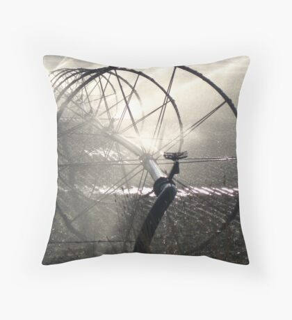 Sprinklers - Black and White Throw Pillow
