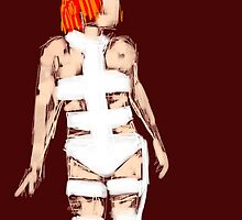 Leeloo Fifth Element - iconic film sketches by jenbewonderland