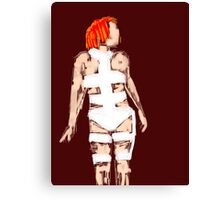 Leeloo Fifth Element - iconic film sketches Canvas Print