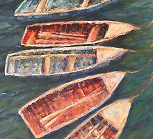 Fishing boats, Lake Titicaca by Terri Maddock