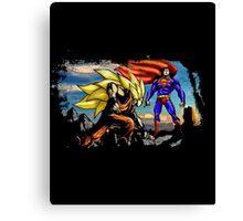 Dragon Ball VS Superman - Goku and Superman Epic Battle Canvas Print