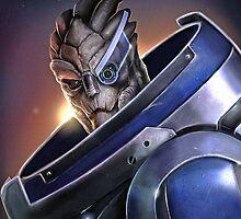 Mass Effect - Garrus Vakarian Cool Portrait by emapremo