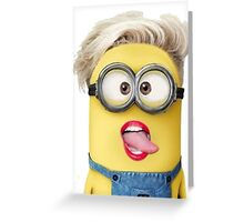 the yellow in Miley Greeting Card