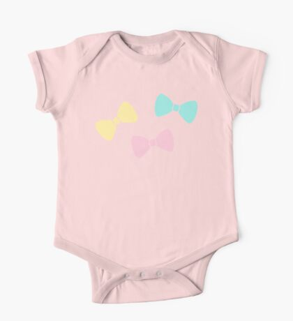 Pastel Bows One Piece - Short Sleeve