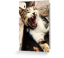 Catzilla Greeting Card