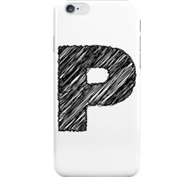 Sketchy Letter Series - Letter P iPhone Case/Skin