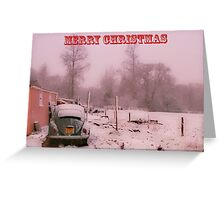 Beetle in the snow-Merry Christmas Greeting Card