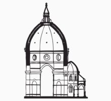 Duomo Cathedral Florence Kids Tee