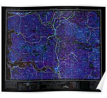 USGS Topo Map Washington Hoquiam 239710 1958 250000 Inverted Poster
