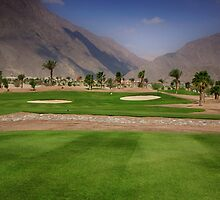 Taba Heights Golf Resort Hole 15 Par 3 by Helen Shippey