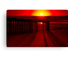 """Shadows In The Sunrise"" Canvas Print"