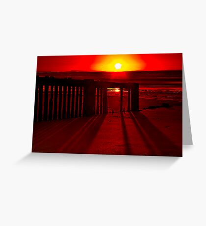 """Shadows In The Sunrise"" Greeting Card"