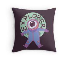Eyestronaut the explorer Throw Pillow
