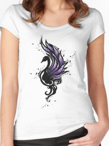 Tribal Black Swan Women's Fitted Scoop T-Shirt