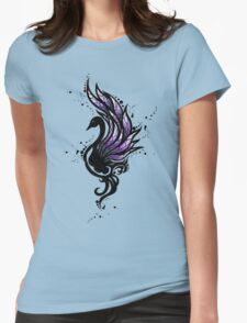 Tribal Black Swan Womens Fitted T-Shirt